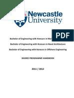 Degree Programme Handbook 201112 (1)