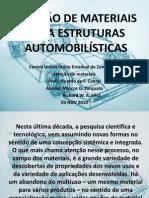 SELEÇÃO DE MATERIAIS PARA ESTRUTURAS AUTOMOBILÍSTICAS