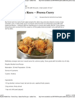 Royallu Mudda Kura – Prawn Curry
