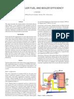 Boilers, Boiler Fuel And