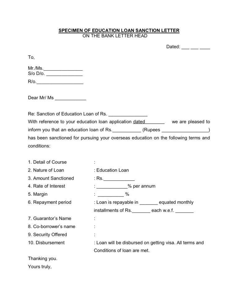 Sanction letter format image collections letter format example loan sanction letters petitingoutpoly spiritdancerdesigns Gallery