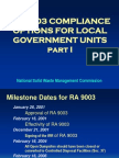 Ra 9003 Compliance Options for Lgu Part 1
