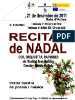 111221 Concert Nadal Poster Programa