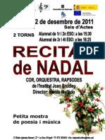 111222 Concert Nadal Poster Programa
