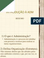 Introd. ADM_resumo