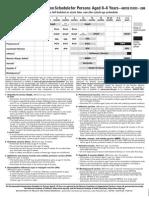 0-6yrs Schedule for Immunizations, CDC 2008