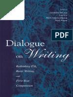 Dialogue on Writing Rethinking Esl Basic Writing