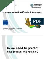 Lateral Vibration Prediction Issues Yuriy Batrak