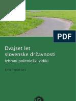 Dvajset let slovenske državnosti - Izbrani politološki vidiki - Cirila Toplak (ur.) (zbornik)