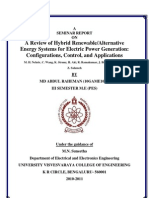 A Review of Hybrid Renewable / Alternative Energy Systems for Electric Power Generation Configurations, Control, And Applications
