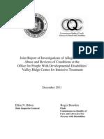 Valley Ridge Joint Report