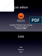 LondonWicket-ListEditor