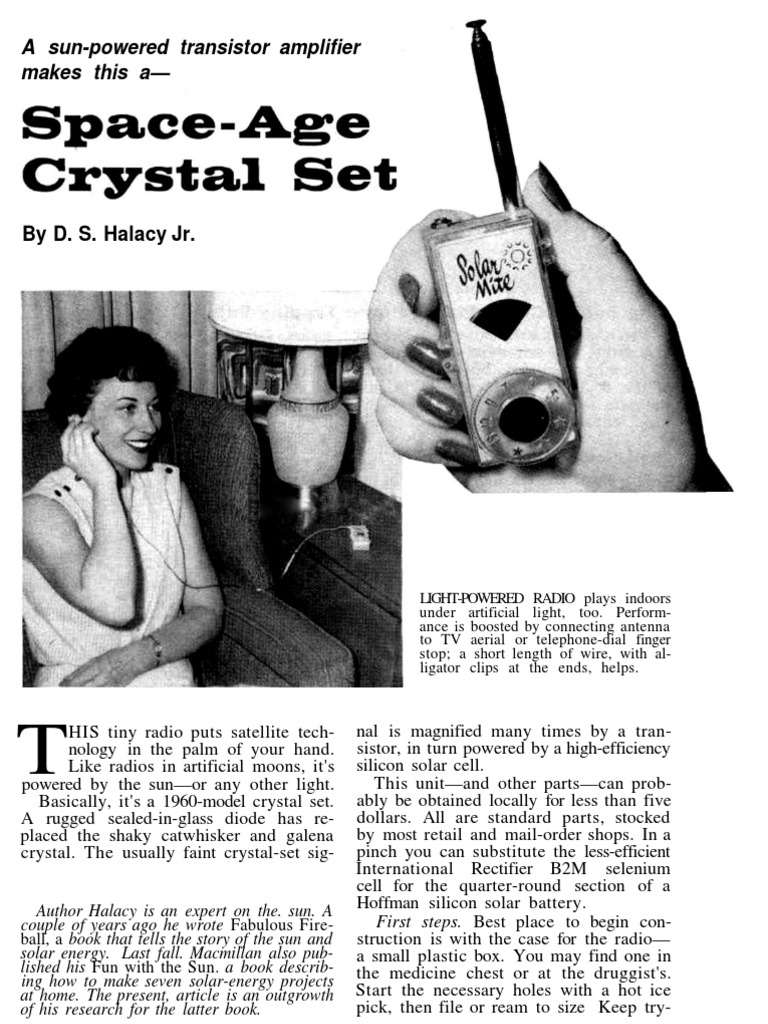 Space Age Crystal Set | Screw | Electrical Engineering