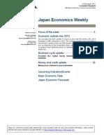 Japan Economics Weekly 2011 12