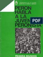 Peron habla a la juventud peronista