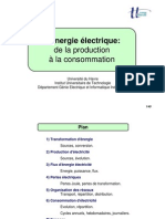 Production, Réseau et Consommation