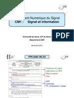 CM1 - MC-II3 - Signal Et Information