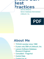 DBA Best Practices