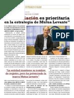 Entrevista a Javier Pascual Corbi director de Mutualidad de Levante por la revista Mediadores de Seguros