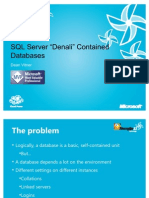 "[Dean Vitner] SQL Server ""Denali"" Contained Databases"