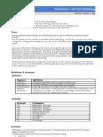 performance - load test methodology