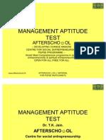 14629111 Management Aptitude Test 13 Nov