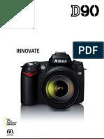 Nikon D90 SLR Camera Pamphlet