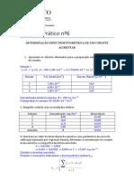 Determinação Espectrofotométrica  de um Corante Alimentar - Laboratório de Química