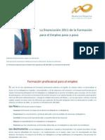 Financiación Formación Empleo 2011