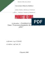 Proiect Memoriu fundatii