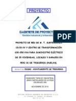 Proyecto en M.T. Redes Subterraneas