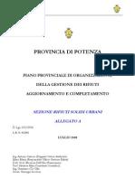 Piano Provincia PZ Rifiuti Adottato - 2008