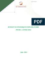 Budget que Exploratoire 2012