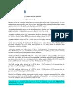 BizHat_Oct 24, 2008_Markets Jittery, Sensex Closes Below 10,000