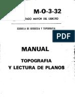 Topografia y Lectura de Planos Manual (Escuela Ejercito 1980)