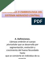 Embriologia Del Sistema Nervioso Humano.