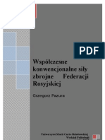 Grzegorz Pazura - Współczesne konwencjonalne sił zbrojne Federacji Rosyjskiej