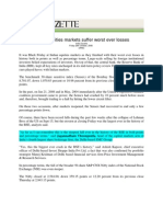 India Gazette_Oct 24, 2008_Indian Equities Markets Suffer Worst Ever Losses