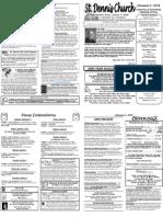 January 1 Bulletin