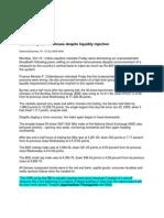 Newstrack_Oct 10, 2008_Market Mayhem Continues Despite Liquidity Injection