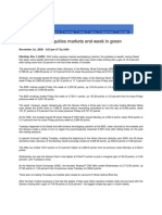 Thaindian_Nov 1, 2008_Battered Indian Equities Markets End Week in Green