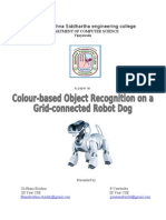 25 Colour Recognition Grid Conected a Robot Dog