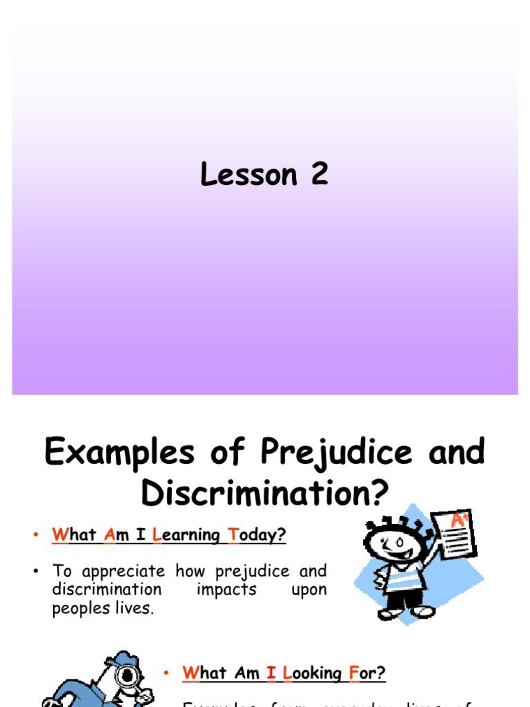 Types Of Prejudice