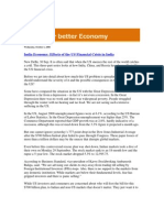 Blog Coverage_India Economy_Effects of the US Financial Crisis in India