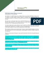 BombayNews_Oct 3 -3, 2008_ICICI Bank Shares Tank on Rumours