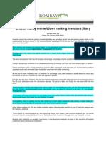 BombayNews_Oct 10, 2008_Greater Clarity on Meltdown Making Investors Jittery