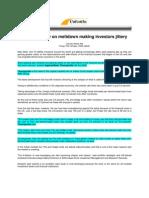 Calcutta News_Oct 10, 2008_Greater Clarity on Meltdown Making Investors Jittery