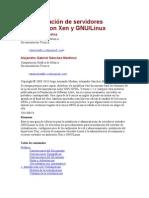 Administración de servidores virtuales con Xen y GNU