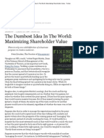The Dumbest Idea in the World_ Maximizing Shareholder Value - Forbes