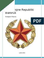 Grzegorz Pazura - SIŁY ZBROJNE REPUBLIKI BIAŁORUŚ
